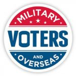 Icon with the text Military Voters and Overseas