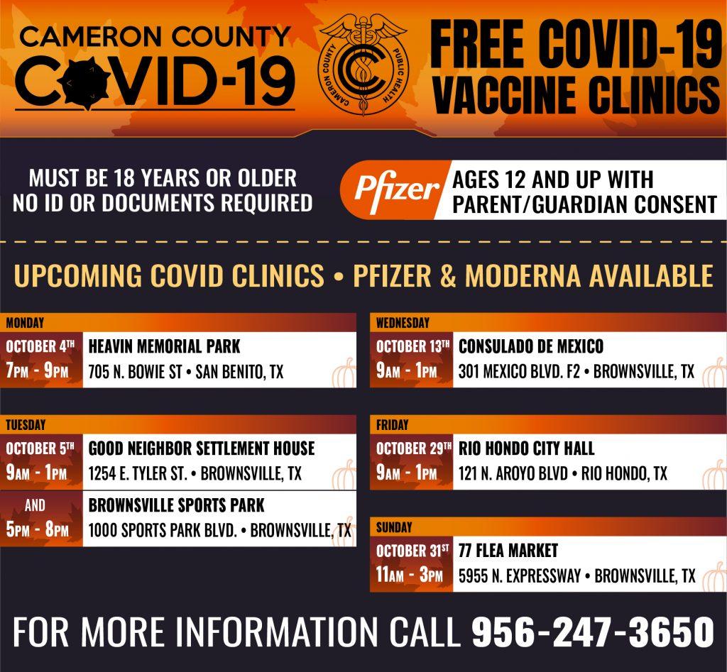 cameron county public health clinics october