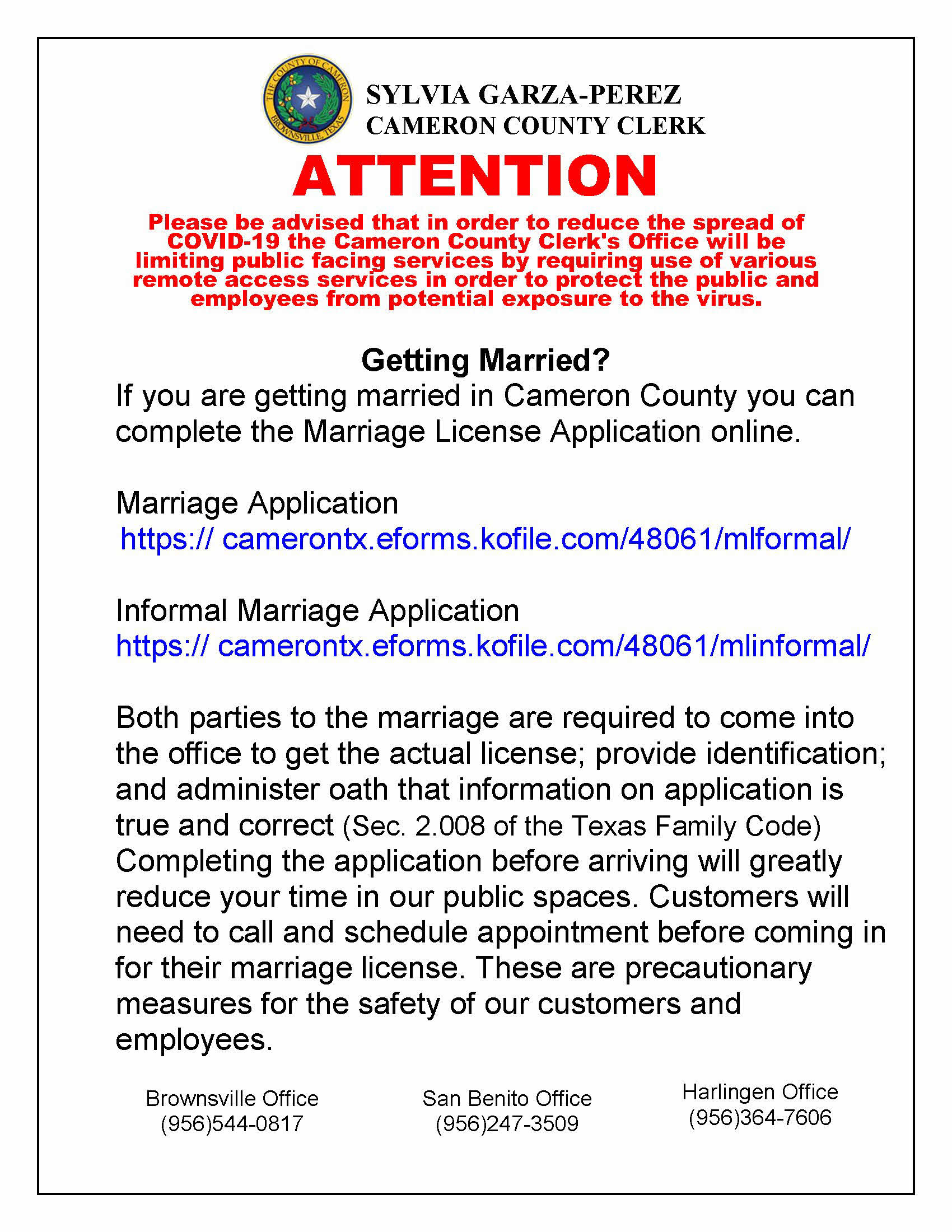 Getting Married Appointment Necessary COVID19