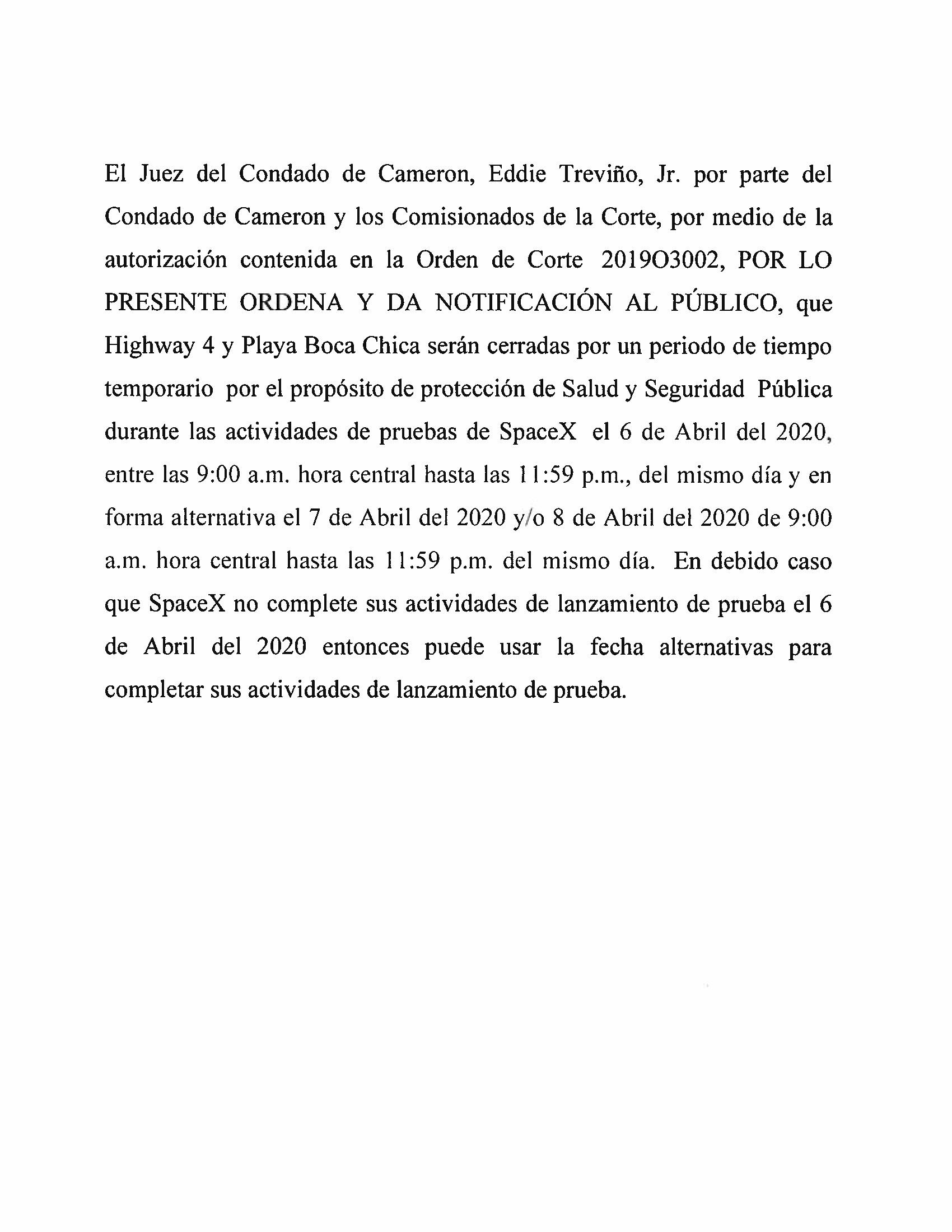 Order In Spanish 04.06.20
