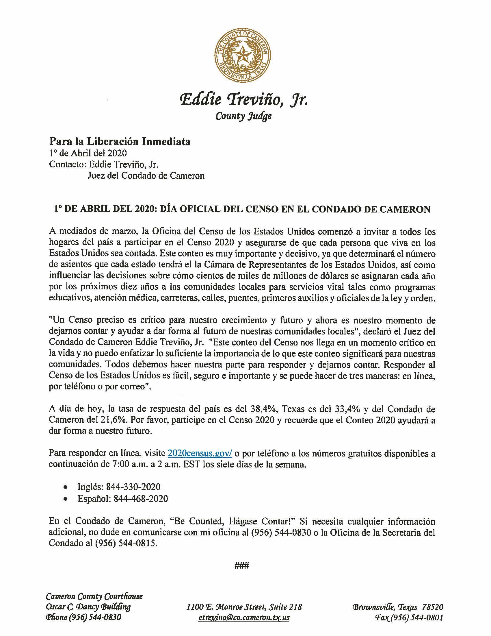 04.01.2020 Dia Oficial Del Censo