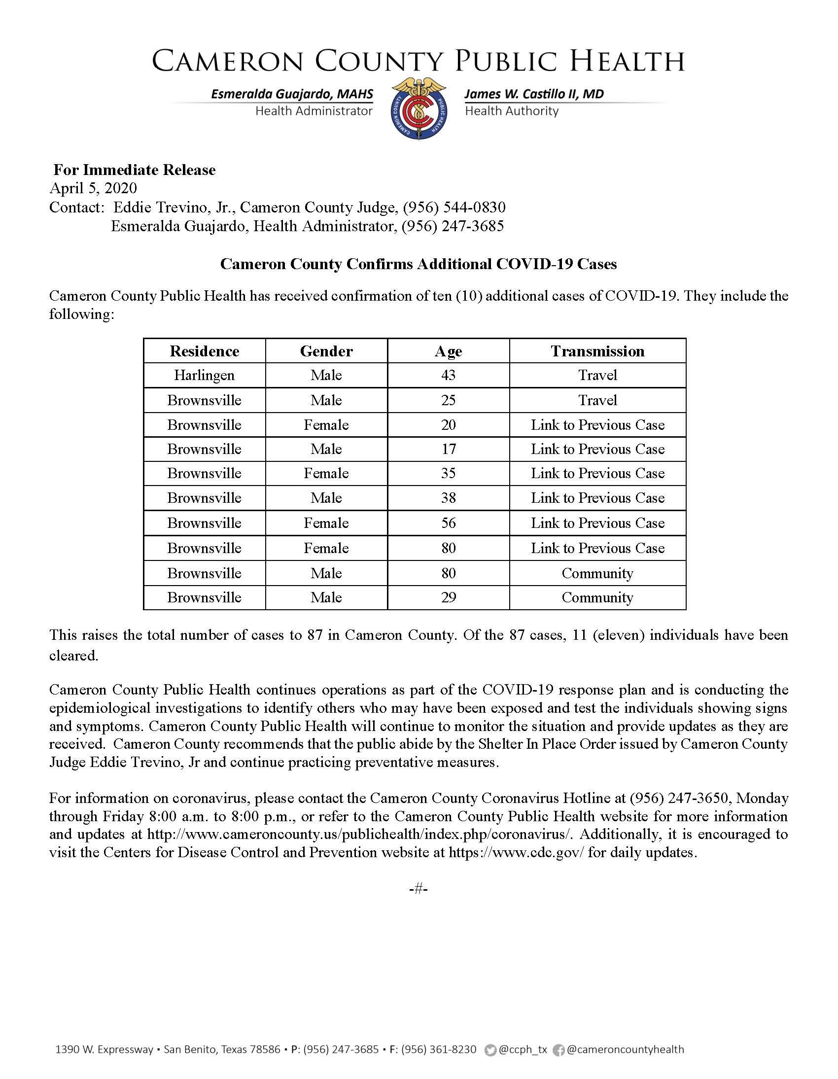 COVID 19 Press Release 78 87 4 5 2020 Ver2 1