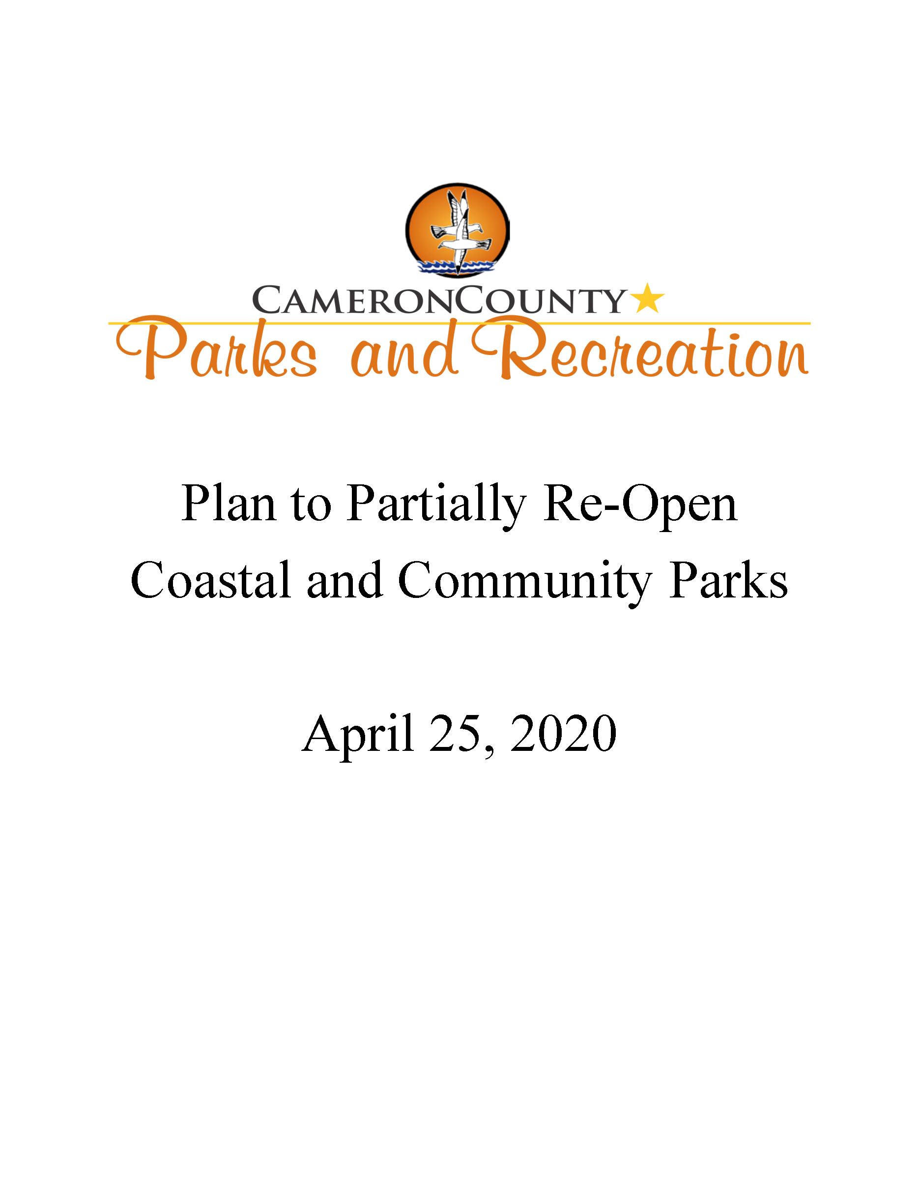 Plan To Partially Re Open Coastal And Community Parks Page 01