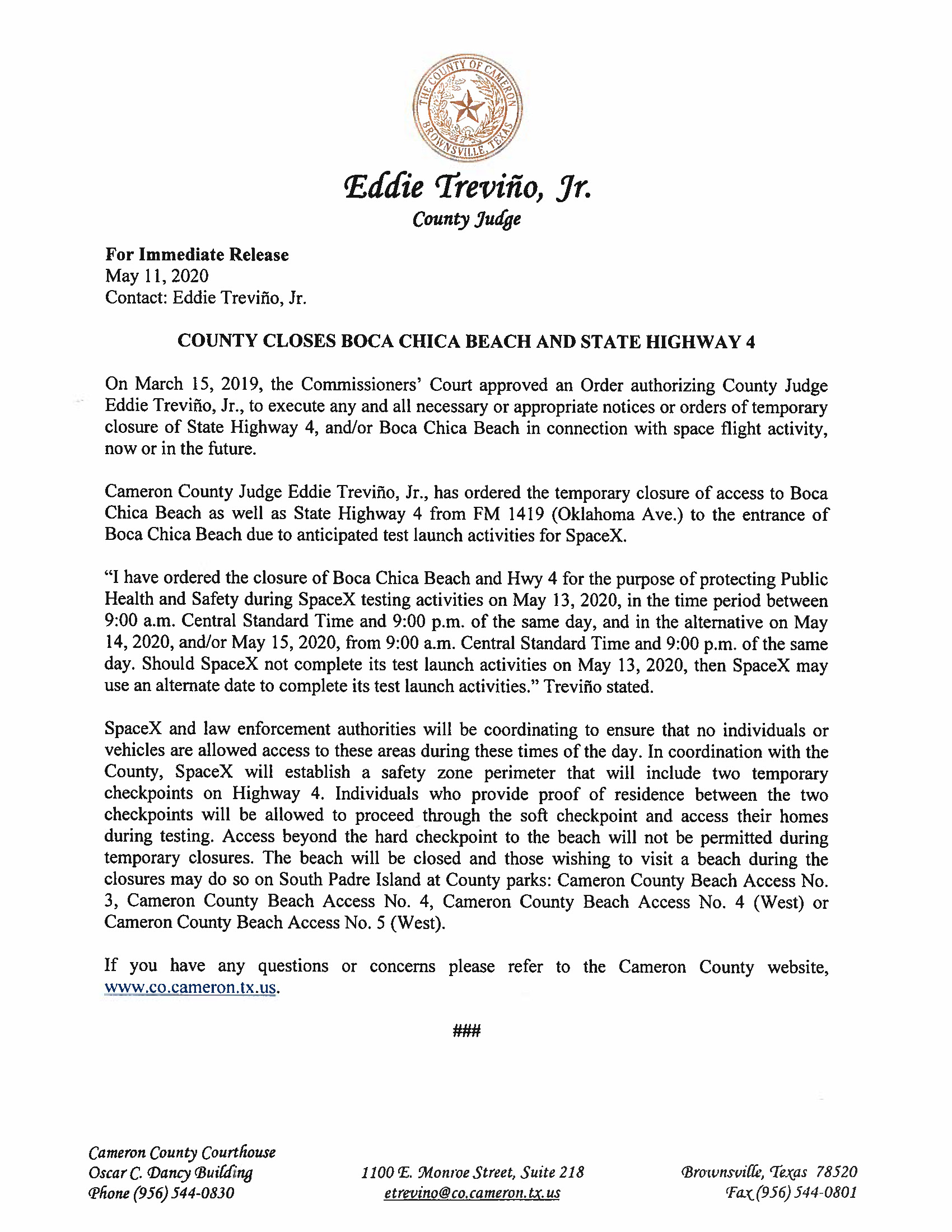 Press Release In English And Spanish.05.13.20 Page 1