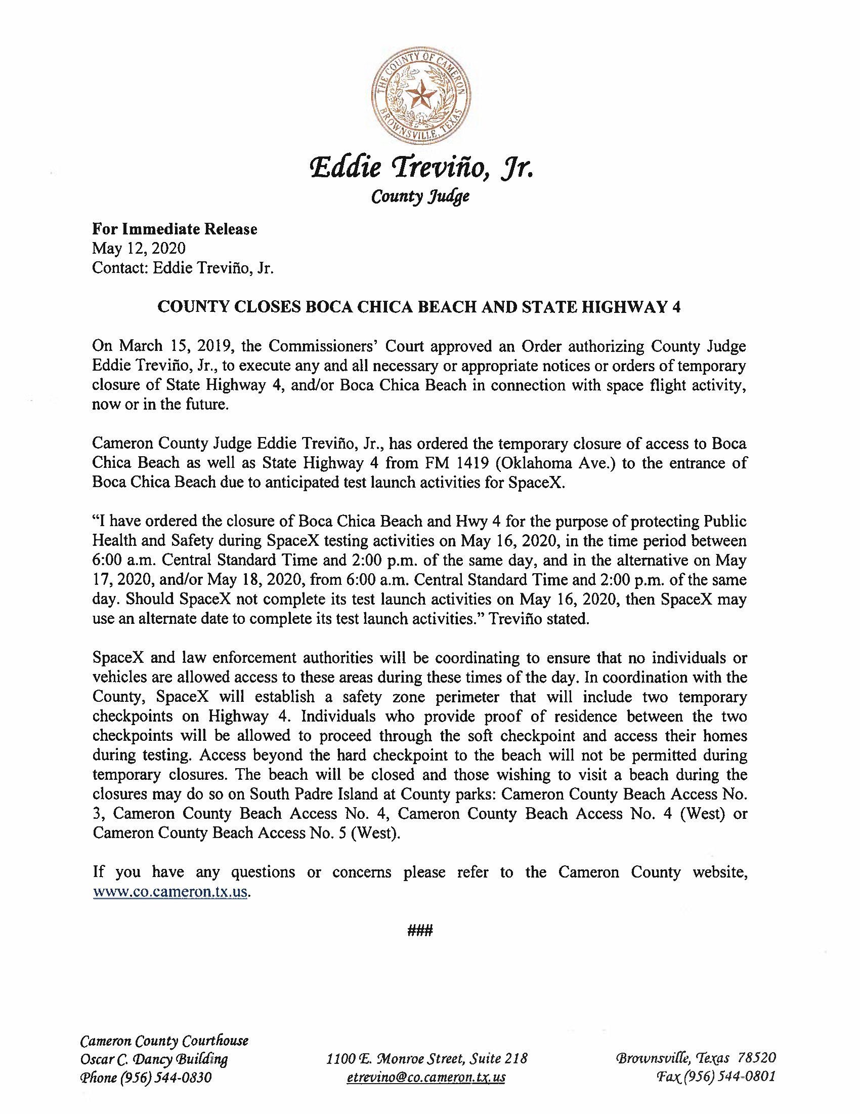 Press Release In English And Spanish.05.16.20 Page 1