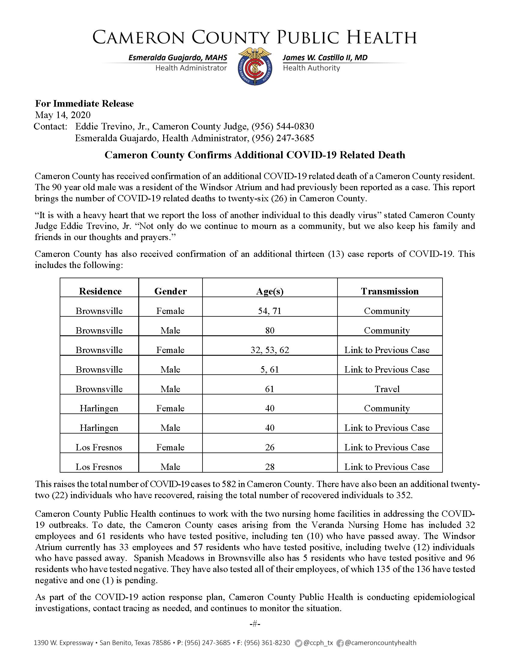 REV COVID 19 Press Release 570 582 PR47 5 14 2020