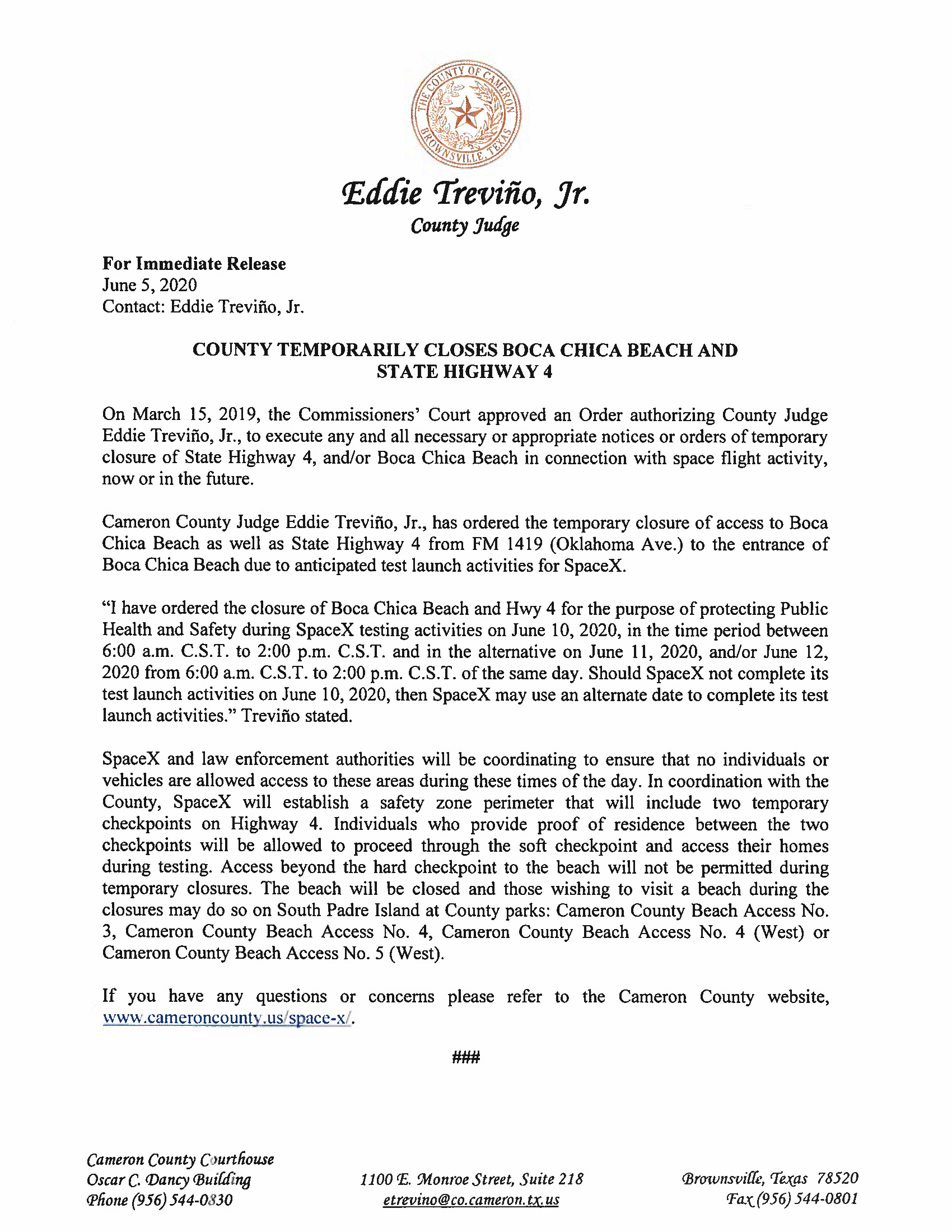 Press Release In English And Spanish.06.10.20 Page 1