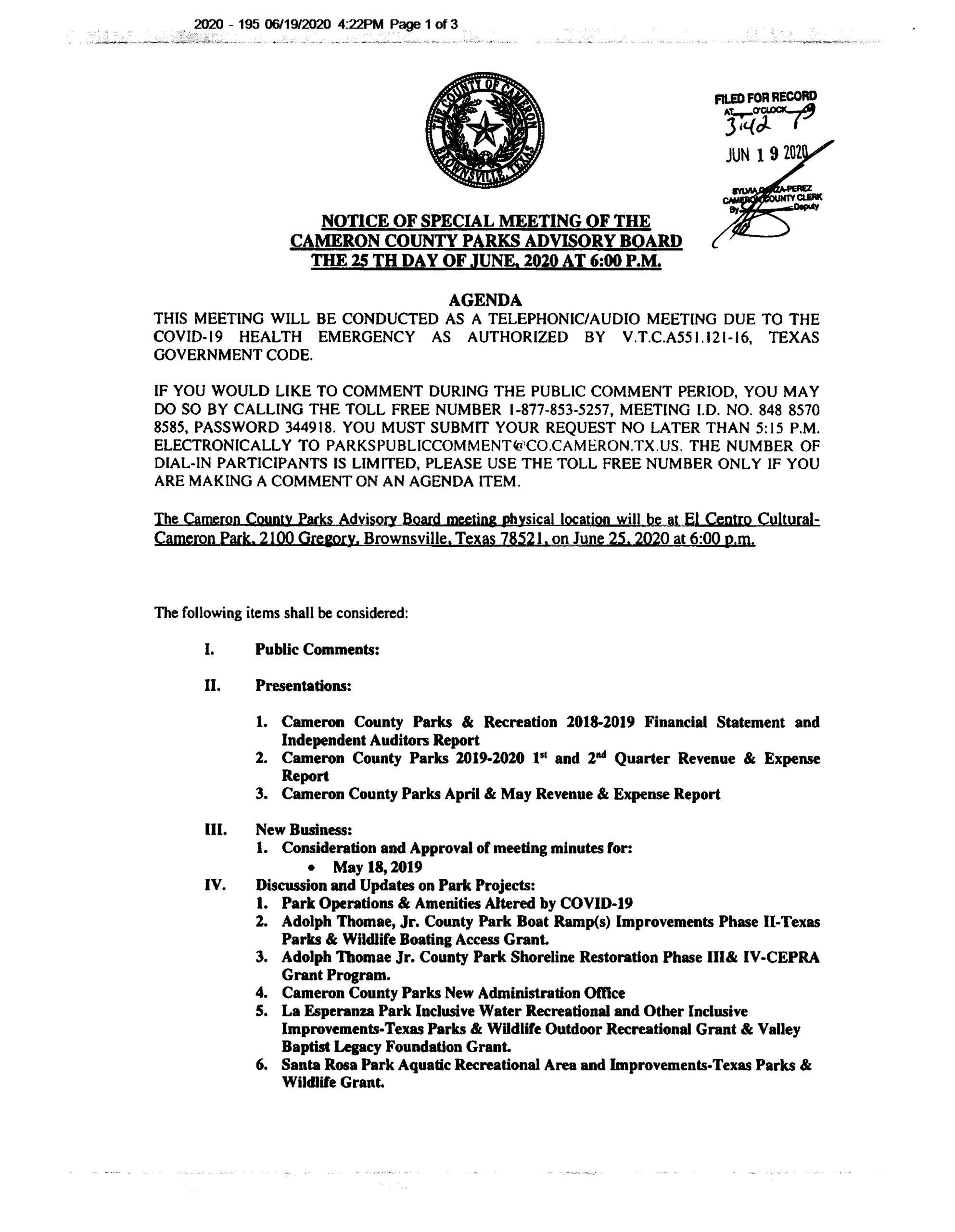 Park Advisory Board Agenda Page 1 Scaled