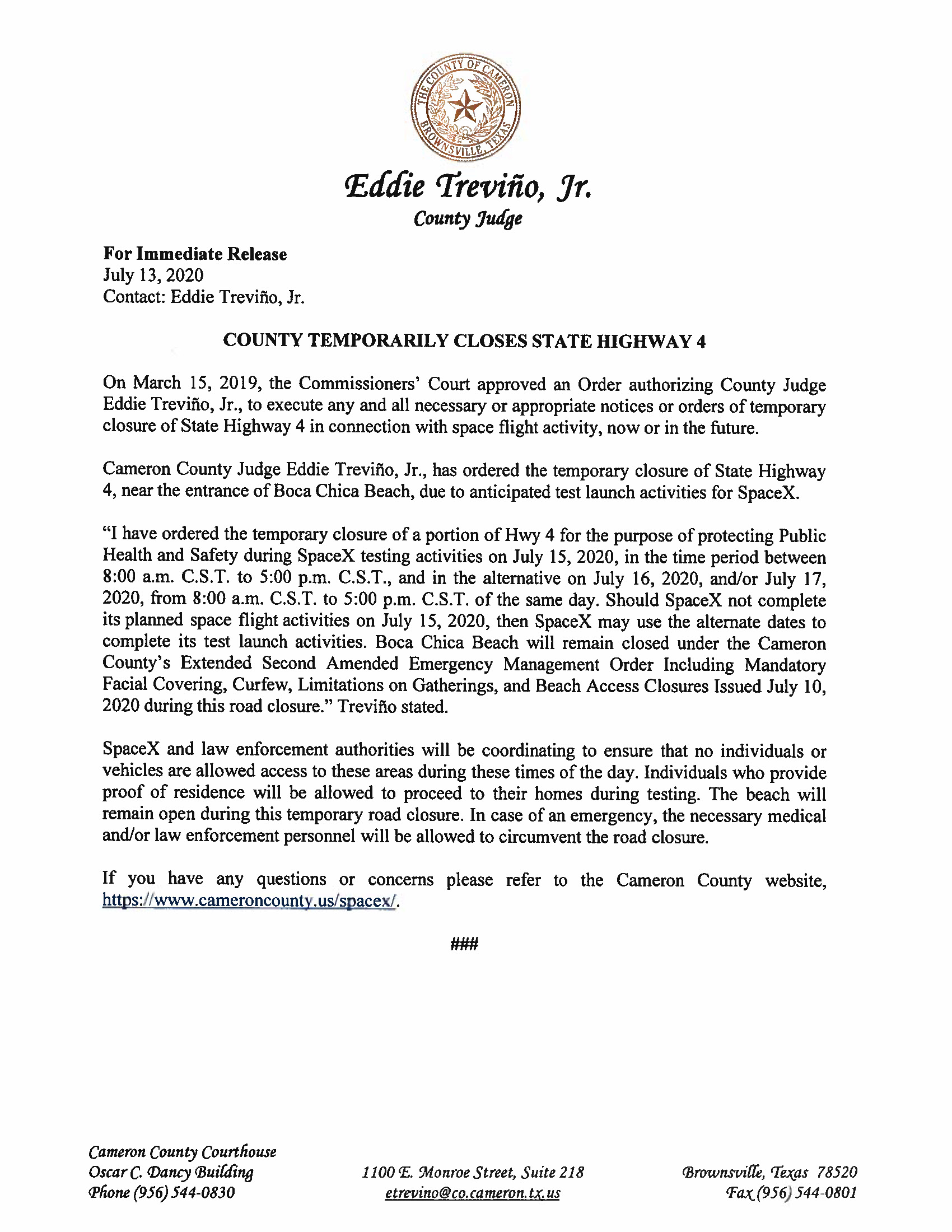 Press Release In English And Spanish 07.15.20 Page 1