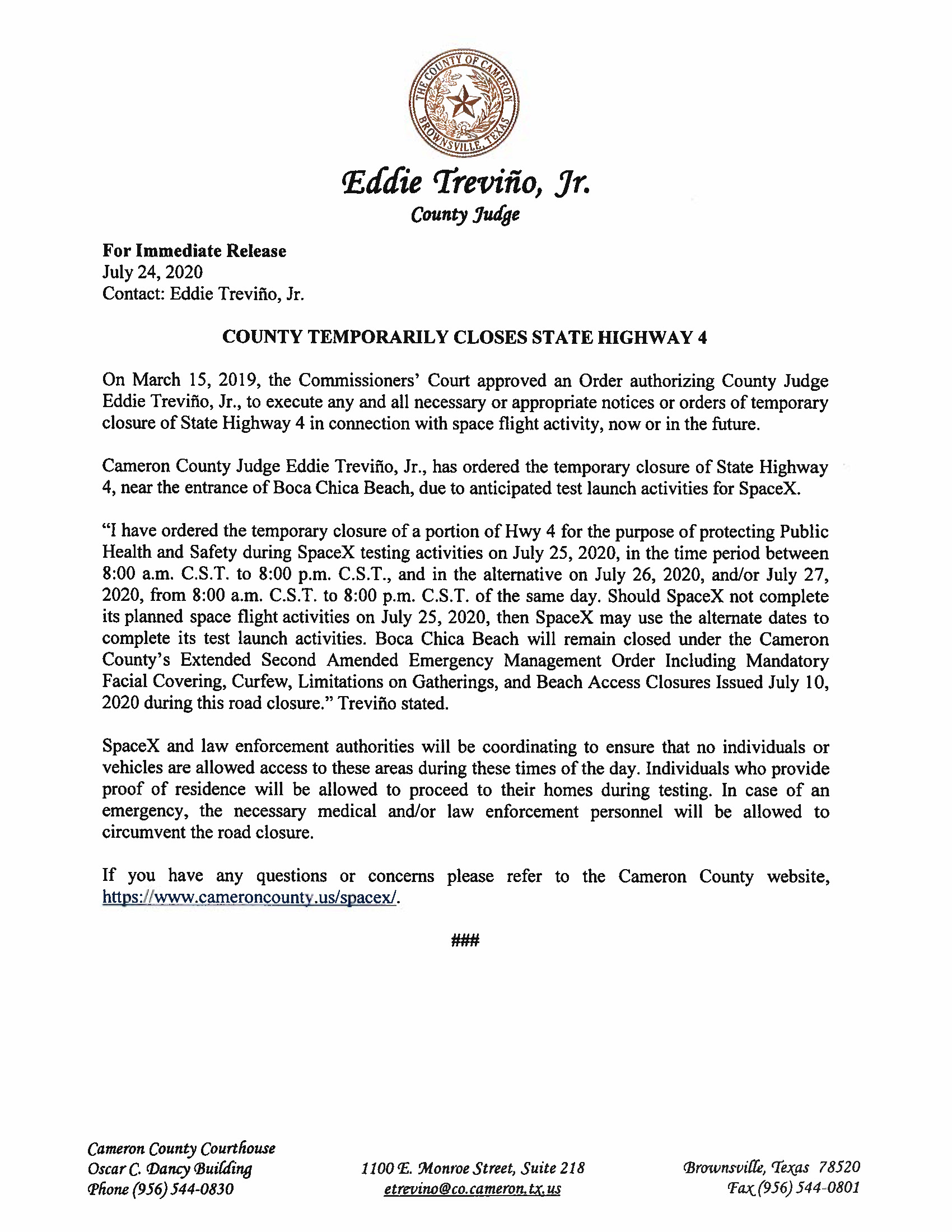 Press Release In English And Spanish.07.25.20 Page 1