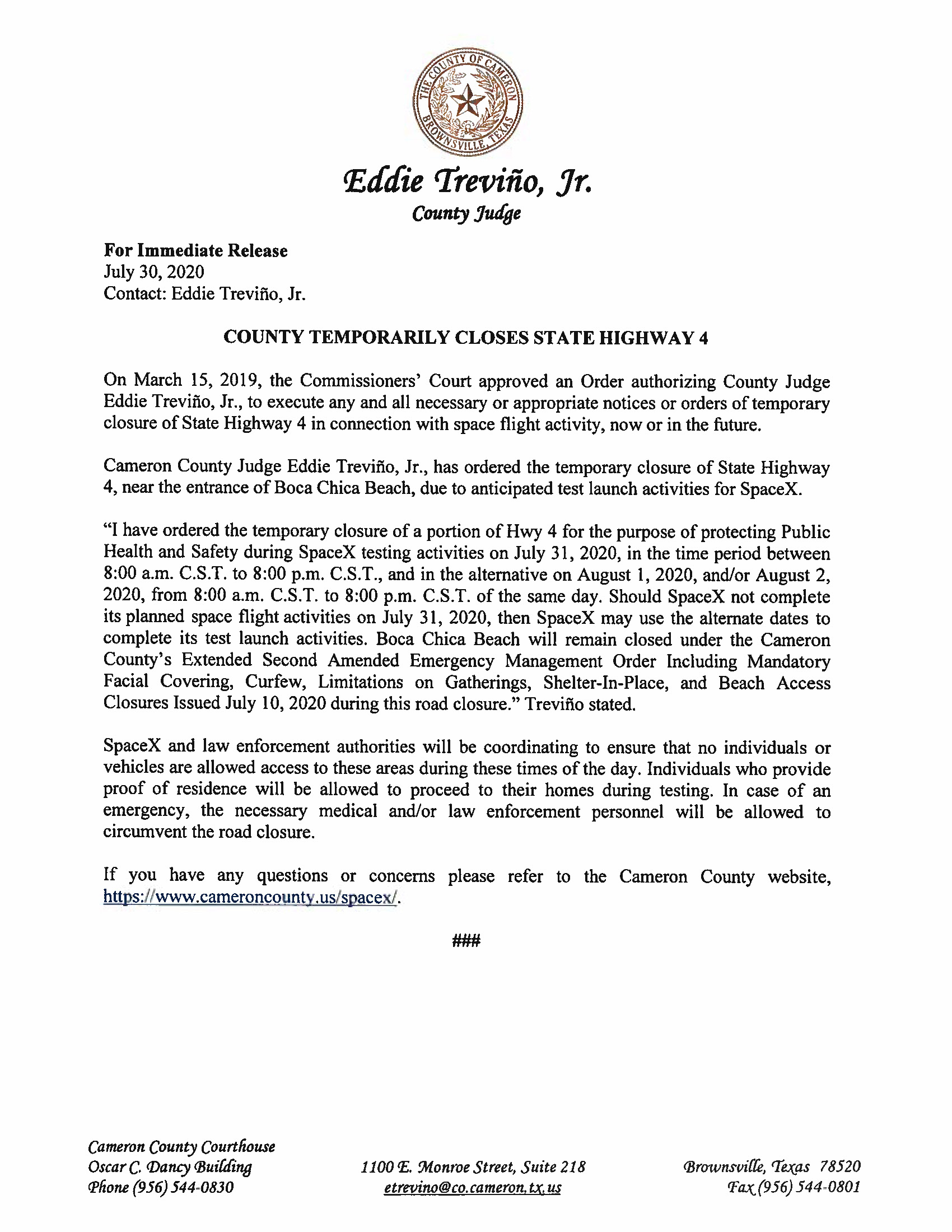 Press Release In English And Spanish.07.31.20 Page 1