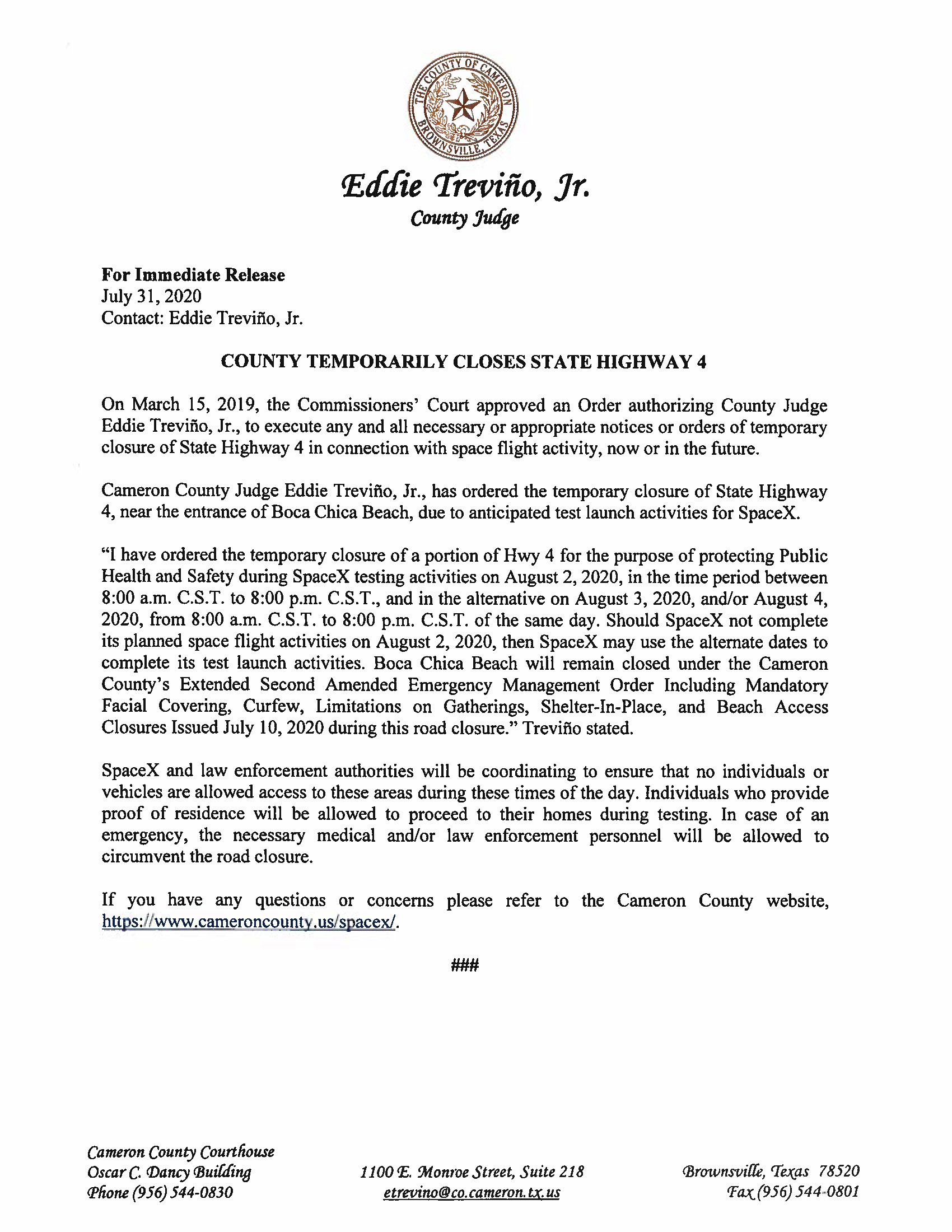Press Release In English And Spanish.08.02.20 Page 1
