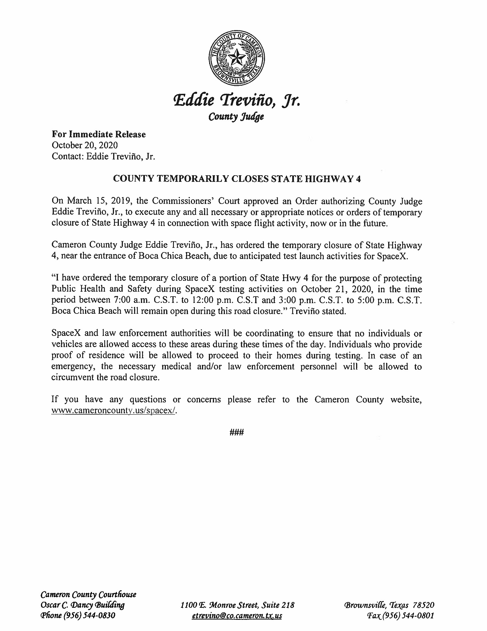 Press Release In English And Spanish.10.21.20 Page 1