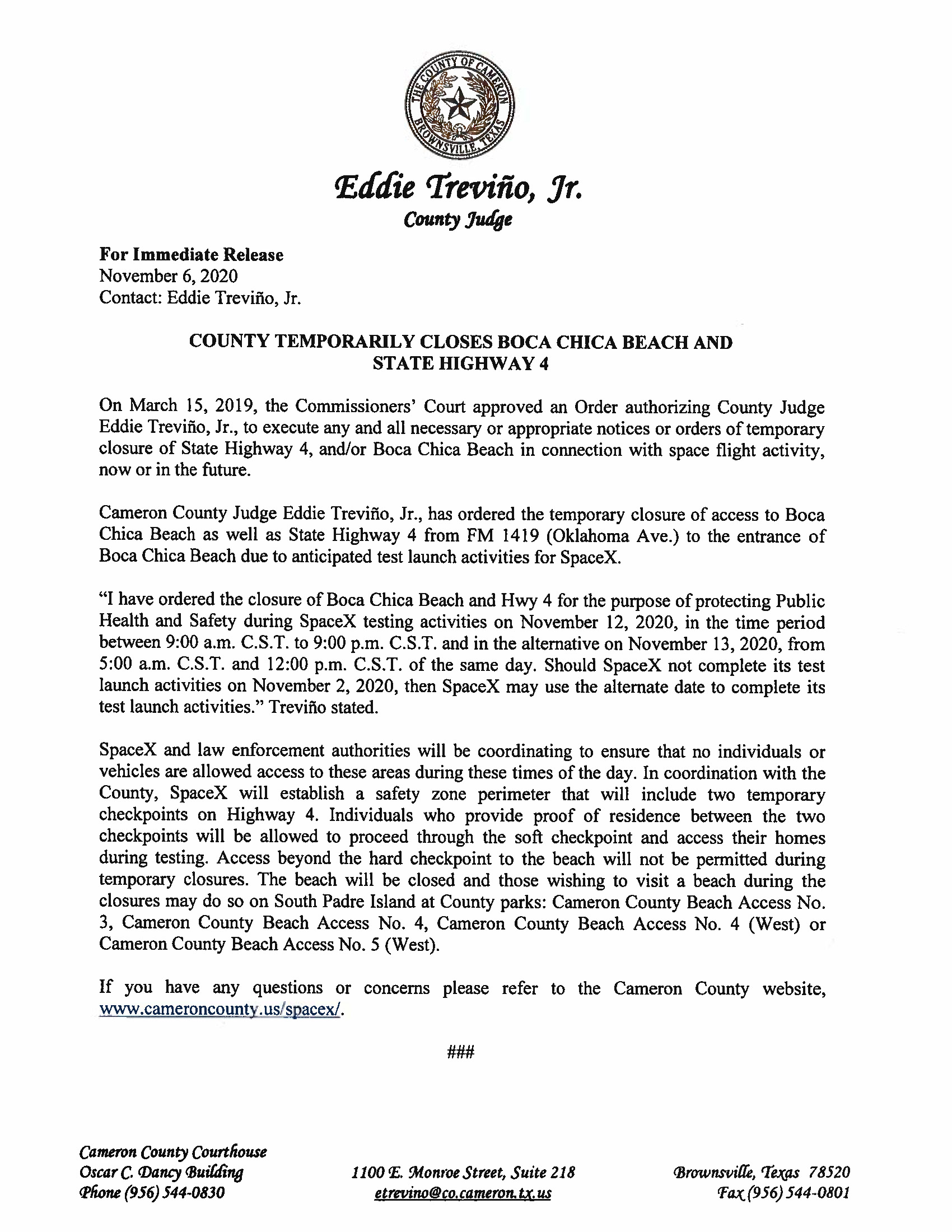PRESS RELEASE IN ENGLISH AND SPANISH.11.12.20 Page 1