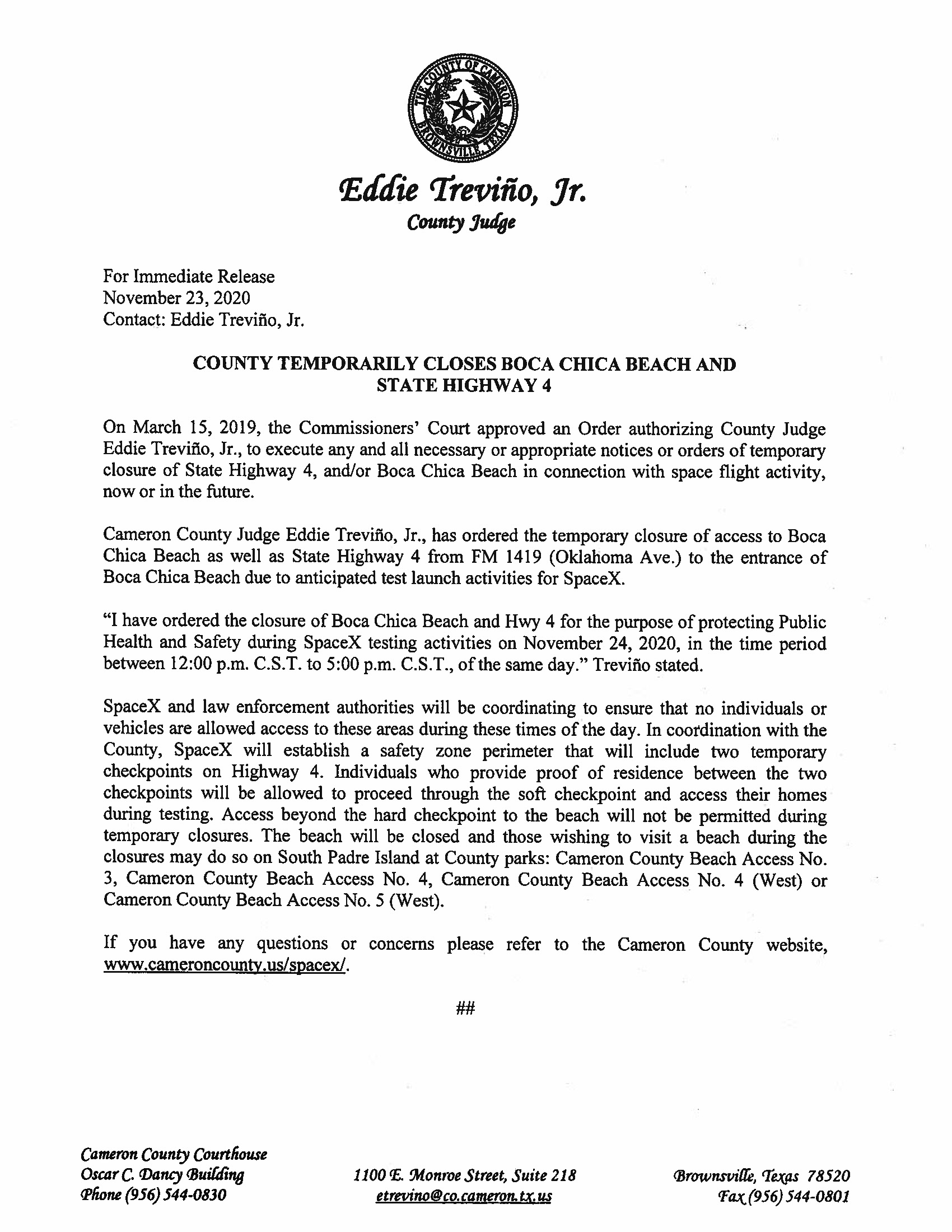 Press Release In English And Spanish.11.24.20 Page 1