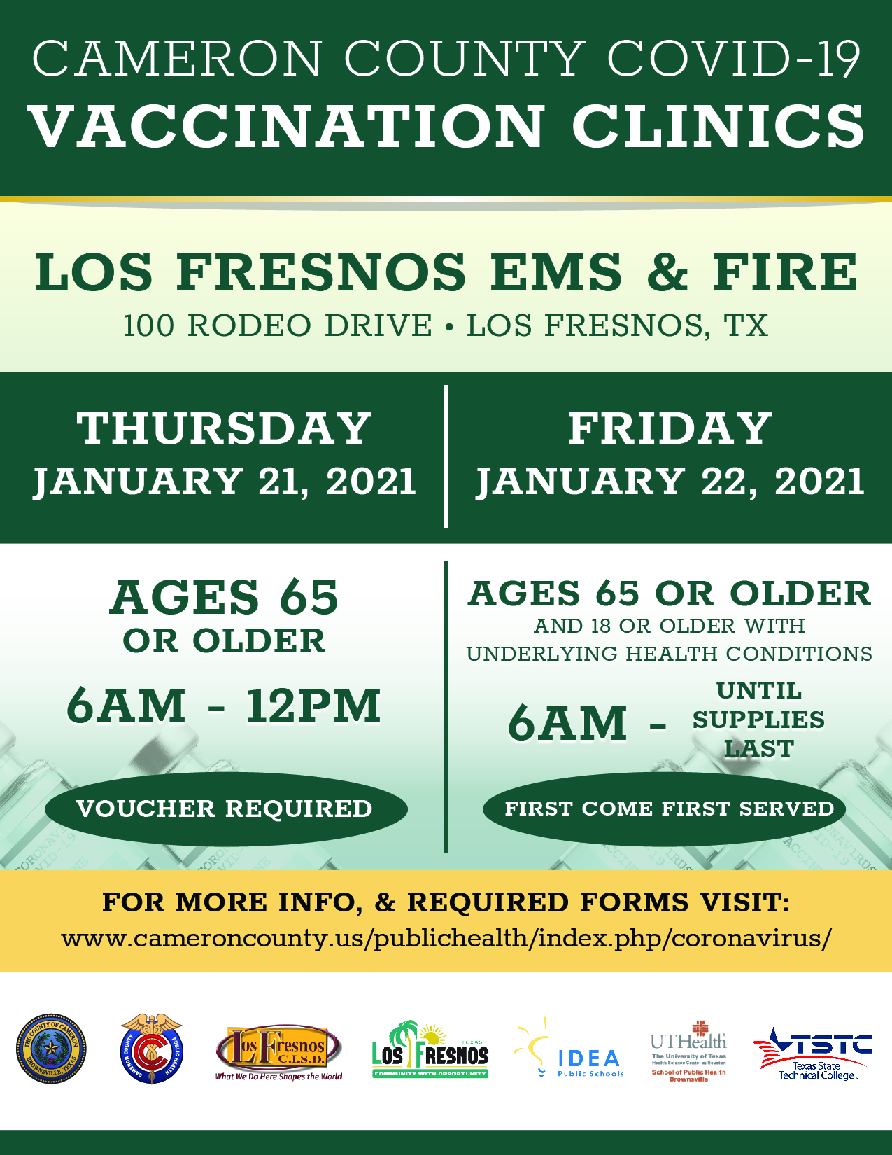 Cameron County Covid-19 Vaccination Clinic