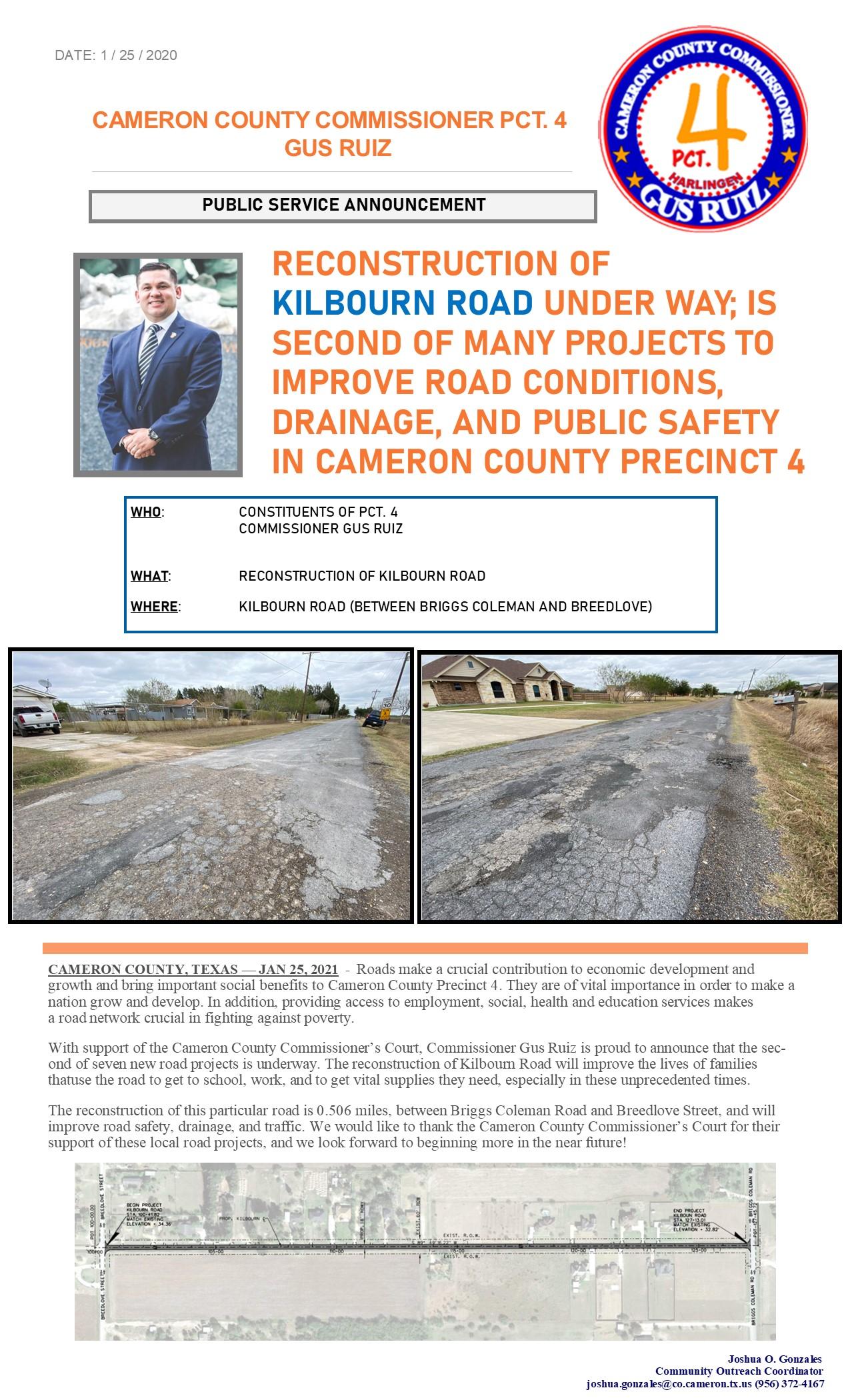 Pct. 4 Reconstruction of Kilbourn Road