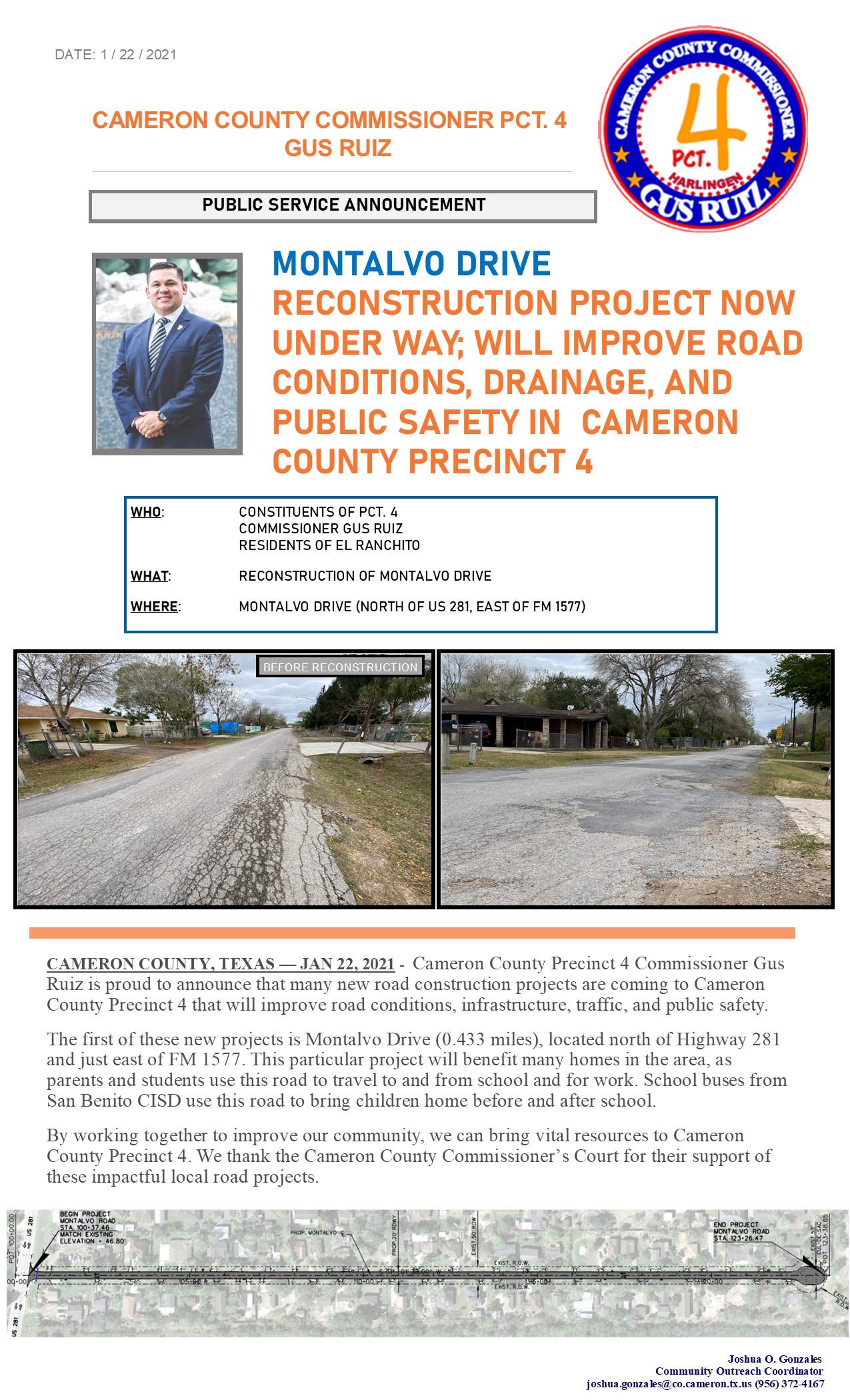 Montalvo Drive Reconstruction Project