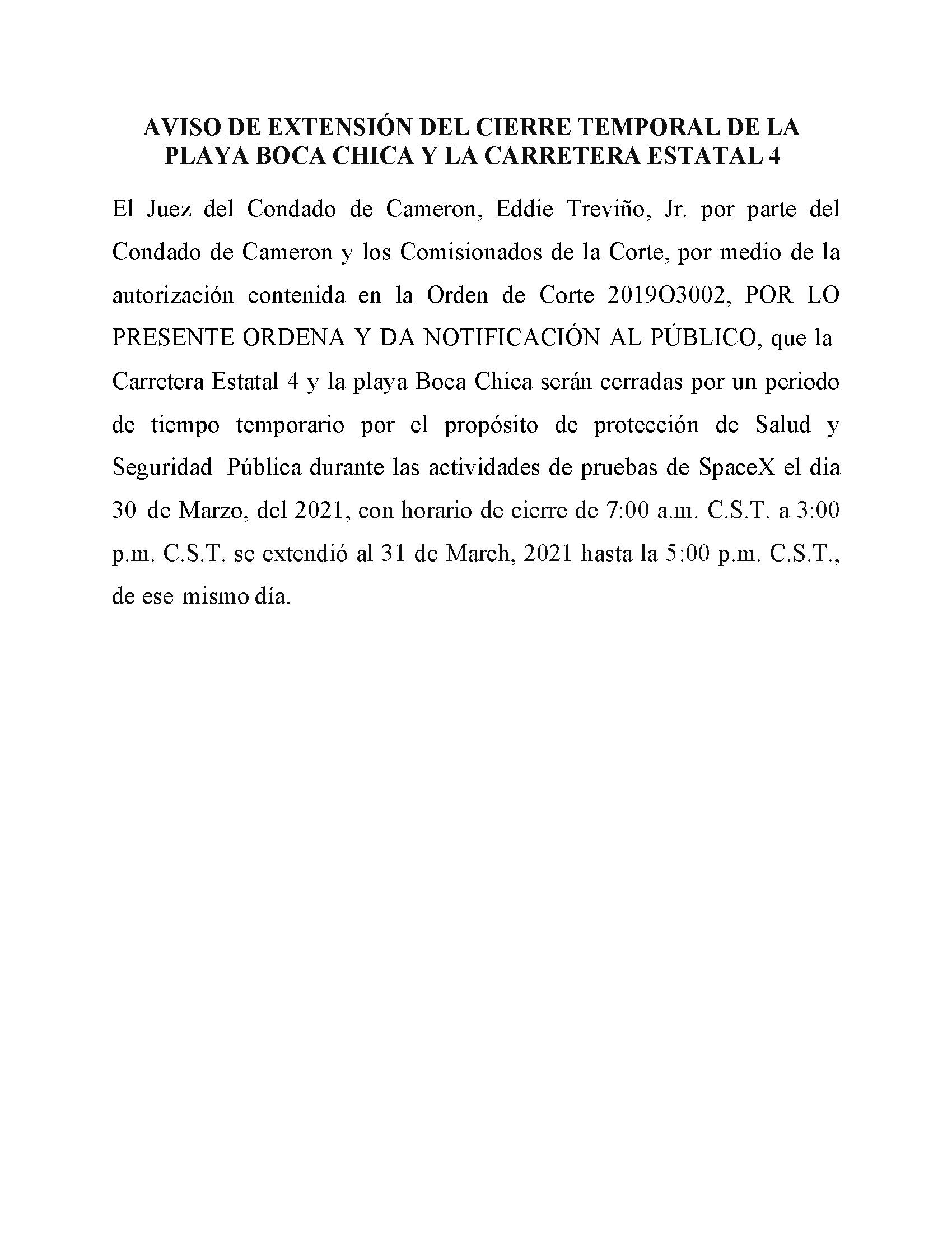 03.30 31.2021 Order In Spanish