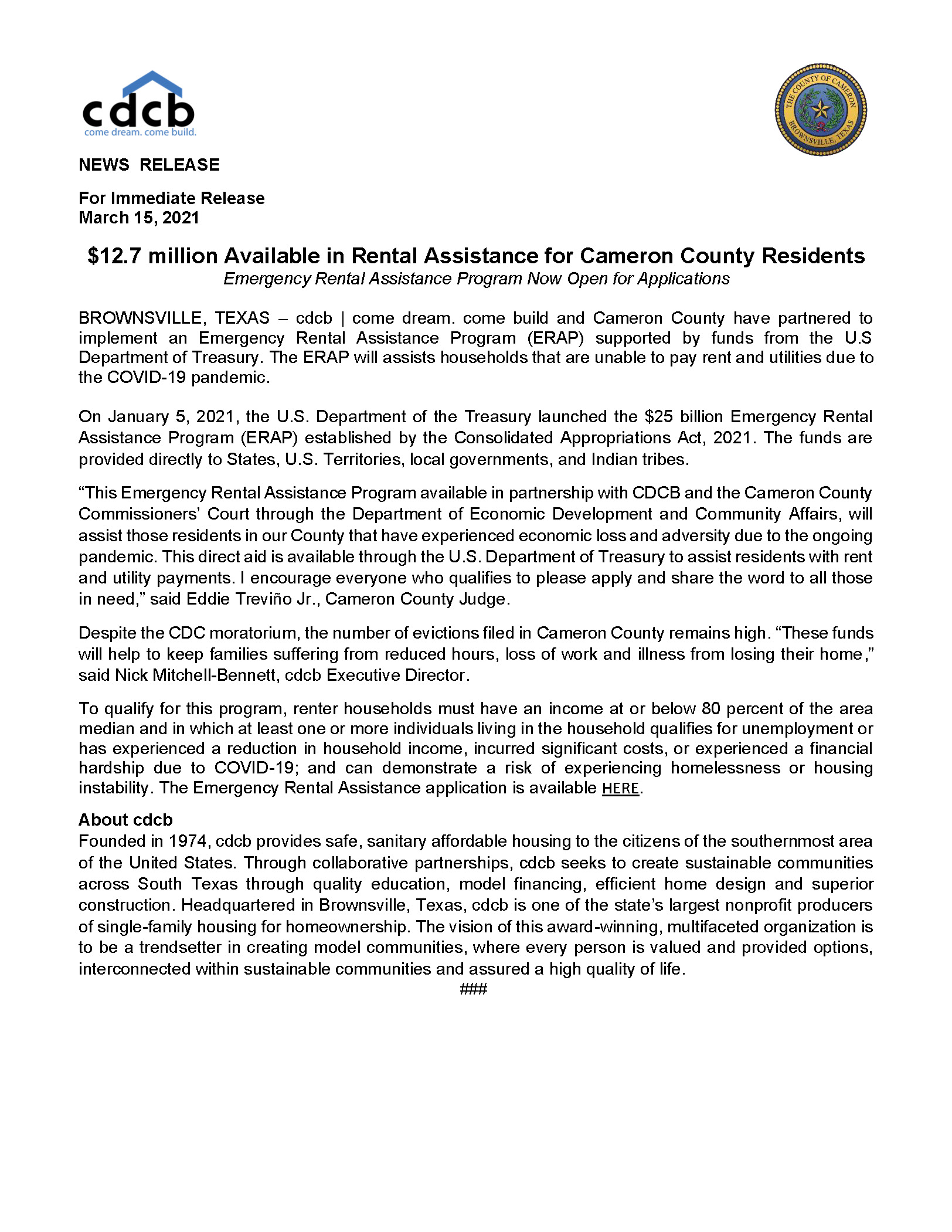 ERA Cameron County Cdcb