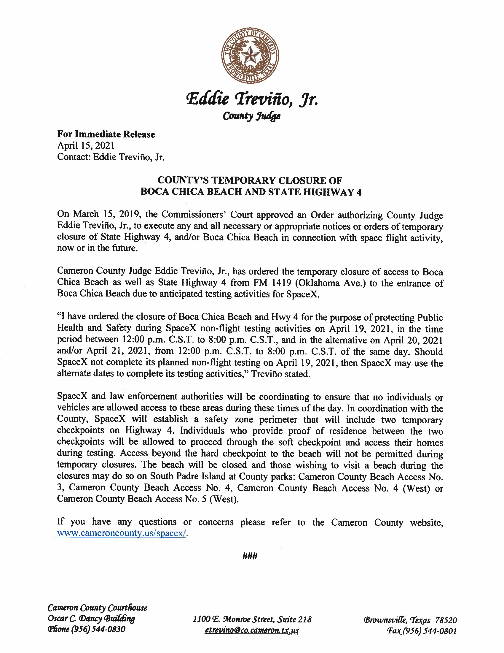 Press Release In English And Spanish.04.19.2021 Page 1