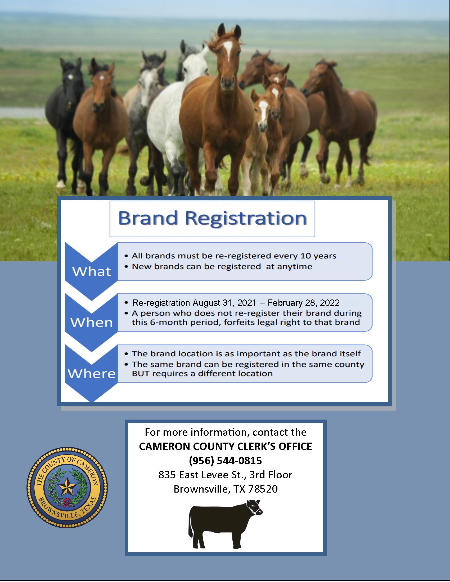 Brand Registration Cameron County Clerk