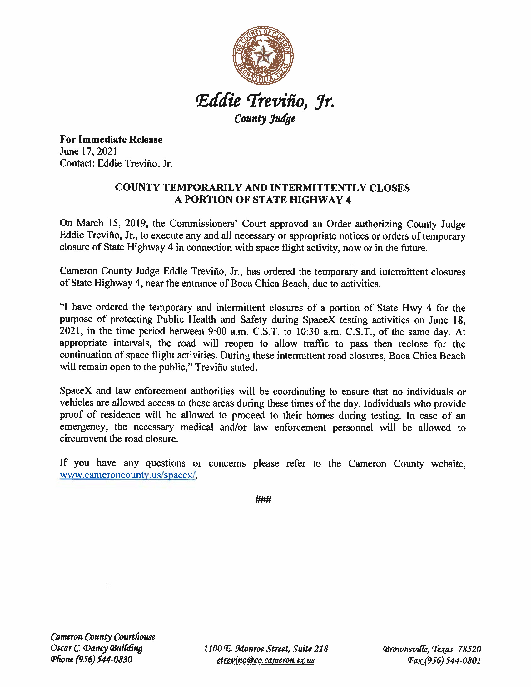 Press Release In English And Spanish.06.18.2021 Page 1