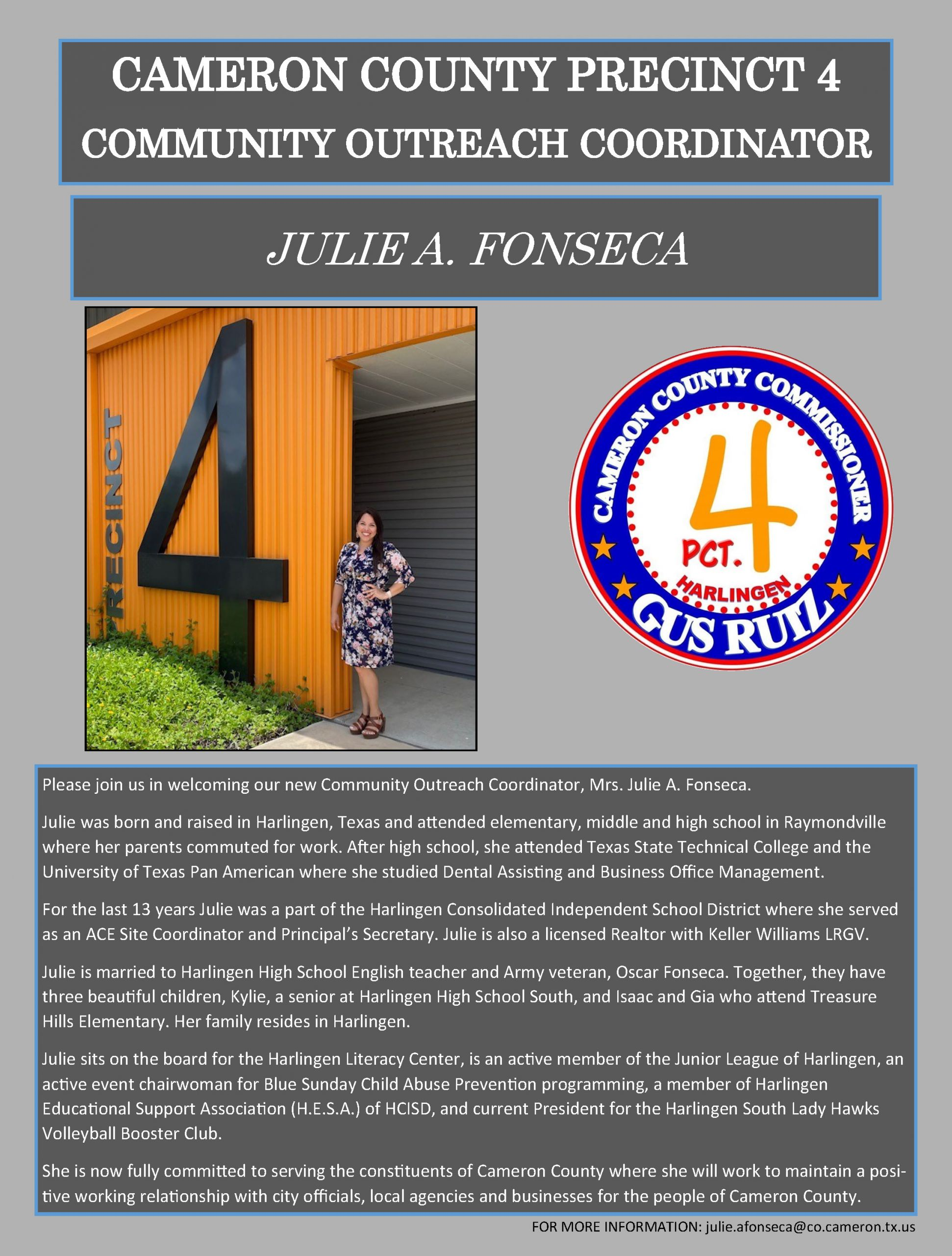Welcome Julie Fonseca FINAL Scaled