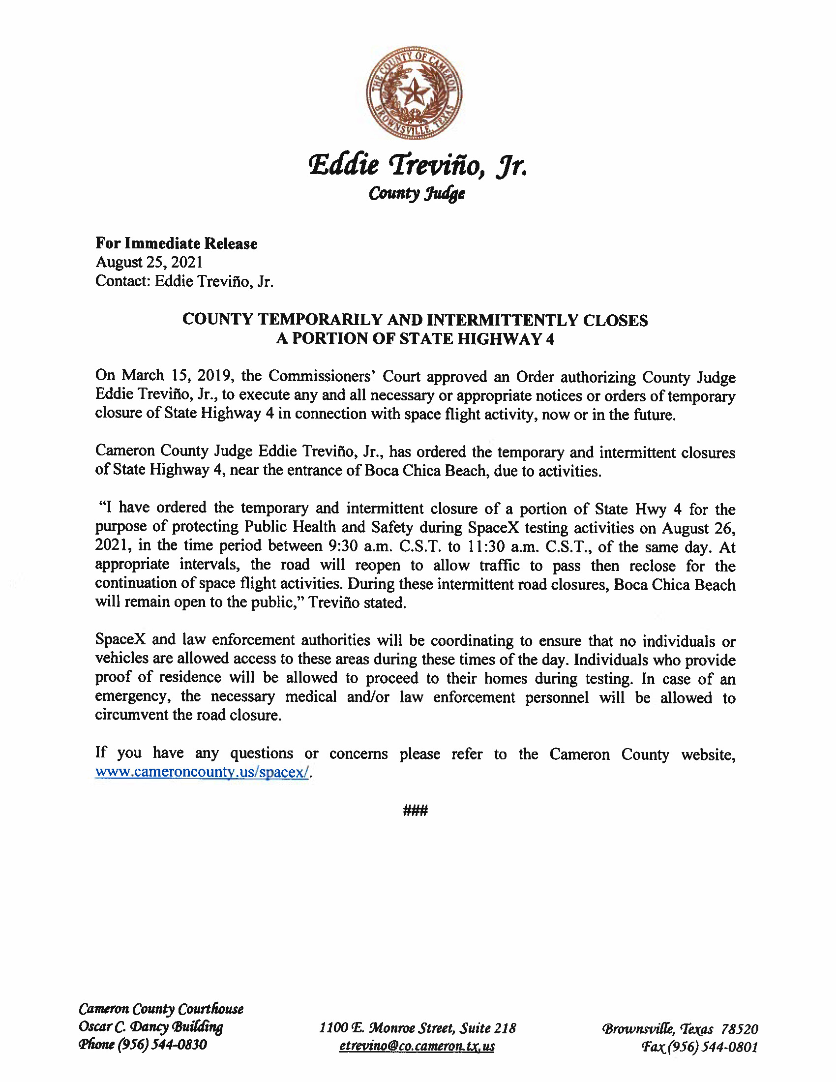 Press Release In English And Spanish.08.26.21 Page 1