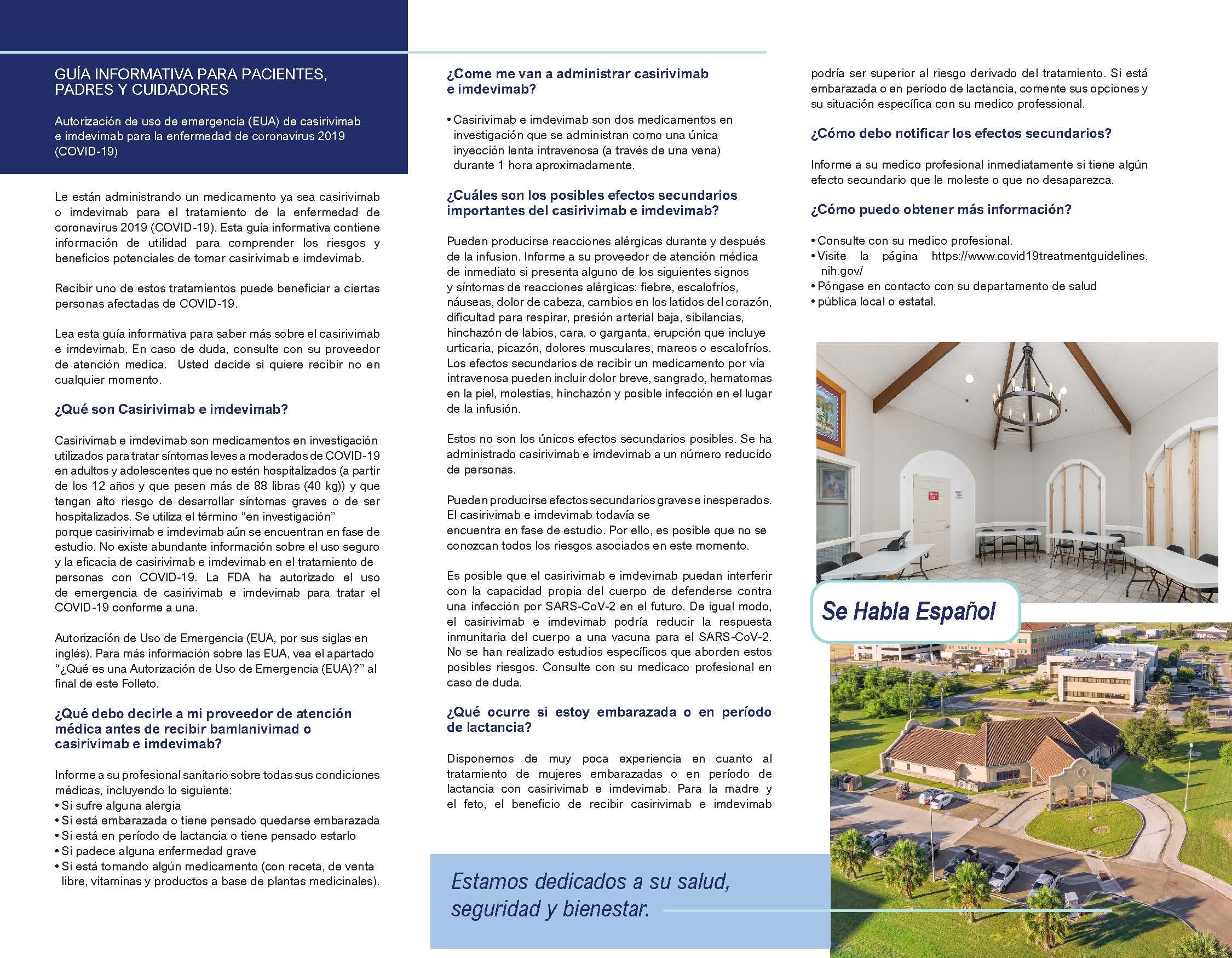 SLS Harlingen TriFold SPANISH Patient Information 081321 Page 2