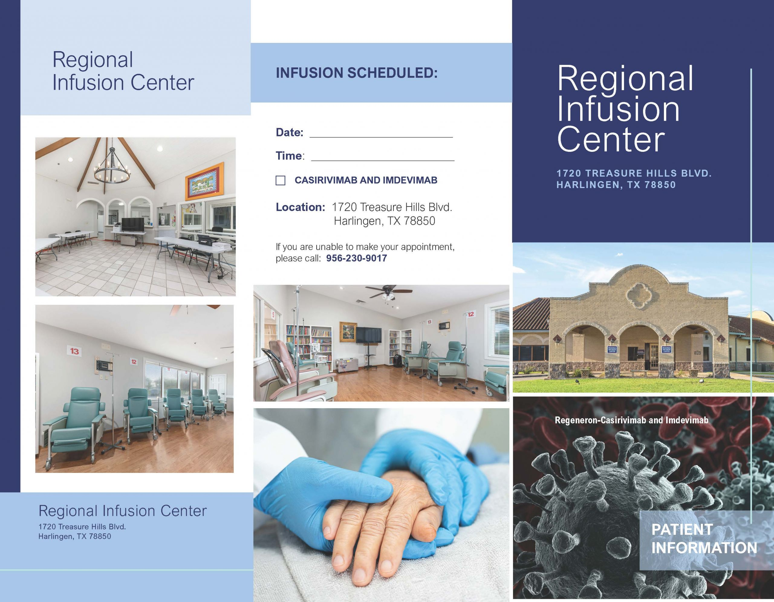 SLS HarlingenInfusionClinic TriFold Patient Information 081321 Page 1 Scaled