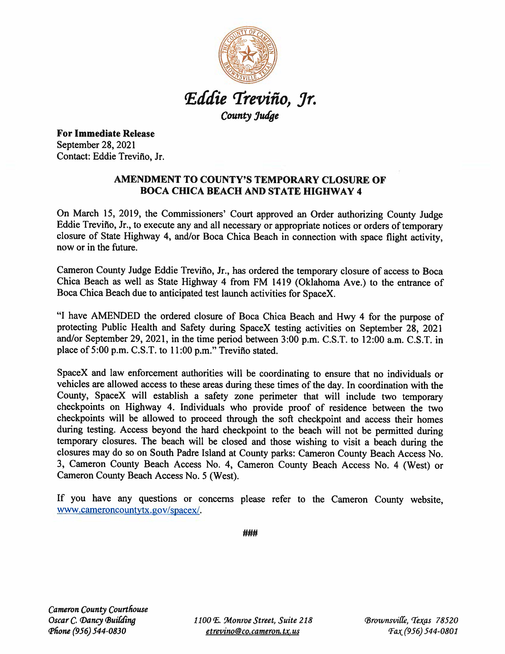 Press Release In English And Spanish.09.28 29.2021 Page 1